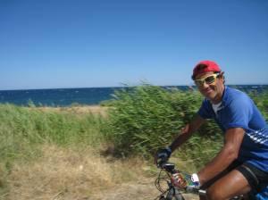 cycling the sea coast