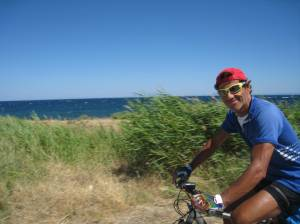 cycling the sea coast